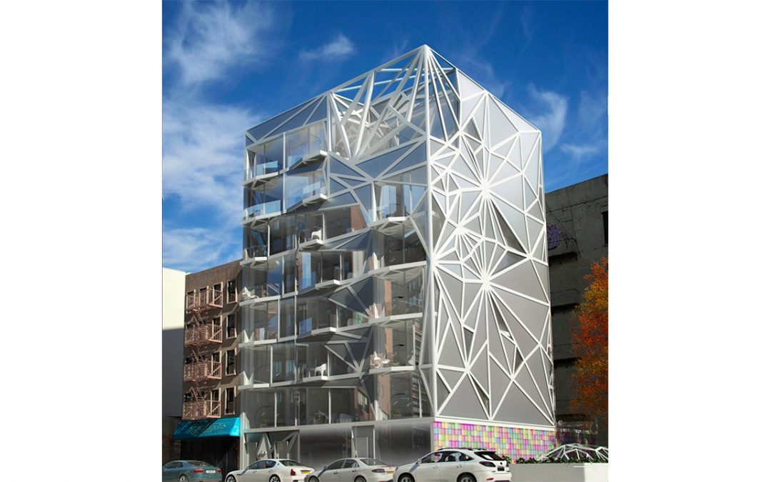 This glam-metal building is coming to 1655 Madison in East Harlem