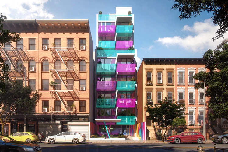 Karim Rashid's East Harlem HAP Building Gets a New Color Scheme After Much Opposition