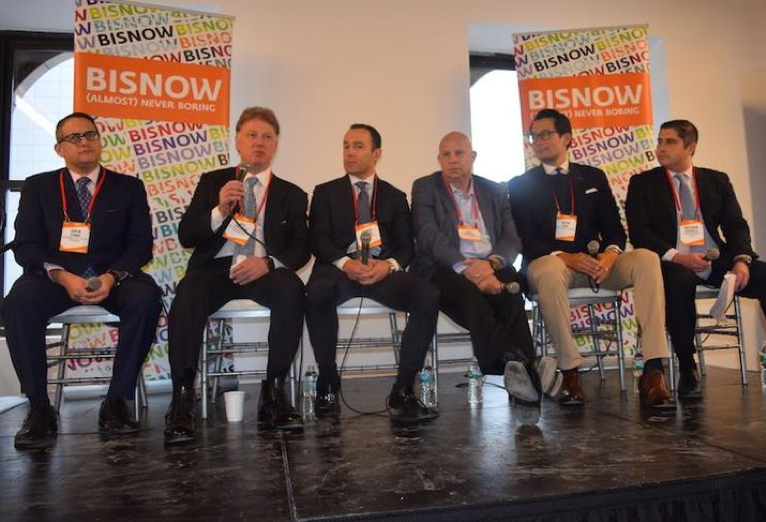 Normandy Real Estate Partners' Gavin Evans, Stillman Development's Roy Stillman, Meridian Capital Ronnie Levine, Acore Capital's Tony Fineman, Cove Property Group's Kevin Hoo, Hunton Andrews Kurth's Matthew Scoville